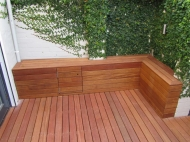 Bench Seat With Front Access Storage Door