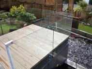 Deck With Frameless Glass Balustrade