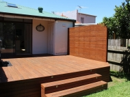 Decking With Screen And Steps