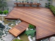 Ironbark Deck With Bridge Over Water Feature