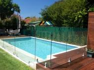Pool Deck With Frameless Glass Balustrade