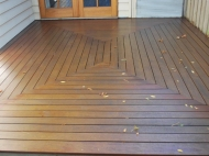 Patterned Wooden Deck