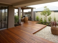 Wooden Decking With Cover