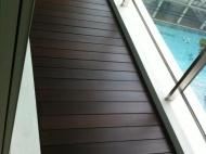 Dark Stained Wooden Decking