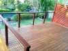 Wood Decking with Rail
