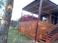 New wooden decking