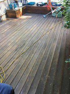 Decking before and after