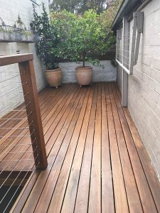 Deck Sand and Sealed After